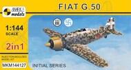 Fiat G.50 Initial Series (2in1 = 2 kits in 1 box) Italian AF, Finnish AF #MKM144127