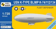 Mark 1 Models  1/720 K-type Blimp (K-74/112/134) 'Fleet Defender' MKM720-10