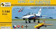 Mark 1 Models  1/144 Aero L39V Albatros Target-Tug Aircraft w/Letov KT04 Drone (D)<!-- _Disc_ --> MKX14414