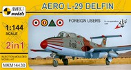 Mark 1 Models  1/144 Aero L-29 Delfin Foreign Users Aircraft (2 Kits) (D)<!-- _Disc_ --> MKX14430