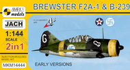 Mark 1 Models  1/144 Brewster F2A1 & B239 Buffalo Early Version USN/Finnish AF Fighter (2 Kits) - Pre-Order Item MKX14444