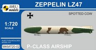 Mark 1 Models  1/720 Zeppelin LZ47 Spotted Cow P-Class German Airship MKX72002