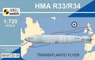 Mark I Models  1/720 HMA R33/R34 (Armstrong Whitworth R33/Beardmore R34 Transatlantic Flyer MKX72008