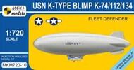 Mark I Models  1/720 USN K-Type K74/112/134 Fleet Defender Blimp MKX72010