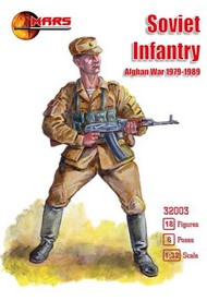 Mars Models  1/32 Afghan War 1979-1989 Soviet Infantry (18) MAF32003