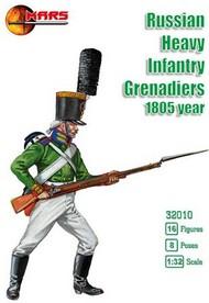 Mars Models  1/32 Russian Heavy Infantry Grenadiers 1805 (16) MAF32010