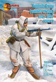 Finnish Army in winter dress 1942-1944 (WWII) 12 figures in 8 poses #MAF32024