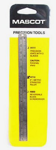 Mascot Models   Ruler 6' METRIC RULER (m=METAL) MAS710