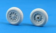 North-American P-51D Mustang Weighted Resin Wheels #MST32010