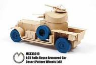 Rolls Royce Armoured Car Desert Pattern Wheels x 6 #MST35010