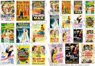 Movie Posters 1940s, Printed Paper (24) (12 different types in 2 sizes) #MAT35102