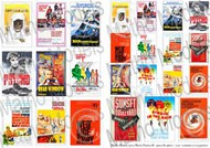 Movie Posters 1950s & 1960s, Printed Paper (24) #MAT35103