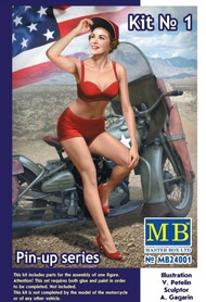 Masterbox Models  1/24 Marylin Pin-Up Girl Sitting w/Hand on Cap- Net Pricing MTB24001
