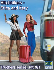 Masterbox Models  1/24 Erica & Kery Hitchhikers w/Suitcase (New Tool) (APR) MTB24041