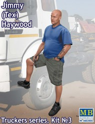 Masterbox Models  1/24 Jimmy Tex Haywood Trucker Standing w/One Foot Raised (New Tool) MTB24043
