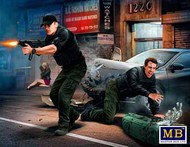 Masterbox Models  1/24 The Heist: Johnson Brothers w/Money in Shootout (New Tool) MTB24065