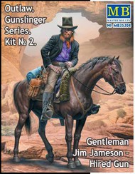 Outlaw Gunslinger: Gentleman Jim Jameson Hired Gun on Horse #MTB35204