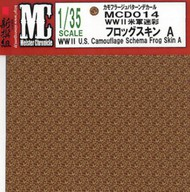 """MEISTER CHRONICLE DECALS  1/35 WWII US Camouflage Schema Frog Skin A (4.75""""x6.75"""") (D)<!-- _Disc_ --> MCD14"""