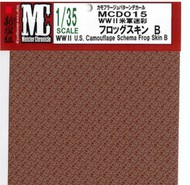 """MEISTER CHRONICLE DECALS  1/35 WWII US Camouflage Schema Frog Skin B (4.75""""x6.75"""") (D)<!-- _Disc_ --> MCD15"""