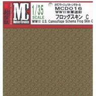 """MEISTER CHRONICLE DECALS  1/35 WWII US Camouflage Schema Frog Skin C (4.75""""x6.75"""") (D)<!-- _Disc_ --> MCD16"""