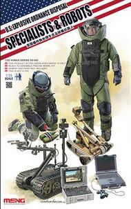 MENG Models  1/35 US Explosive Ordnance Disposal Specialists & Robots MGKHS03