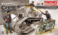 MENG Models  1/35 French FT-7 Light Tank Crew & Orderly Figure Set (3 & Bicycle) MGKHS5