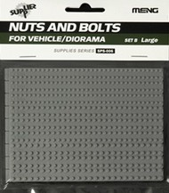 MENG Models  1/35 Large Nuts & Hex Bolts w/Washers Set B Plastic MGKSPS06