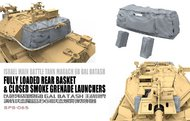 MENG Models  1/35 IDF Magach 6B Gal Batash Fully Loaded Rear Baskets & Closed Smoke Grenade Launchers MGKSPS65