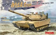 MENG Models  1/35 USMC M1A1 AIM/US Army M1A1 Abrams Tusk Main Battle Tank MGKTS32