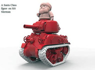 Meng World War Toons Christmas Edition - M4A1 Sherman with Santa Claus Figure #MGKWWV002