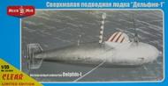 Micro-Mir  1/35 German midget submarine 'Delphin' - MCK35005