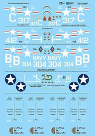 Vought F4U Corsair Assorted Markings Sheet #4 #AC720067