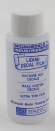 Microscale Liquids  No Scale Micro Liquid Decal Film 1oz Bottle MSI12