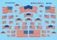 Microscale Liquids  HO American 48-Star Flags Decals MSI4201