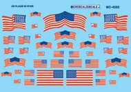 Microscale Liquids  HO American 50-Star Flags Decals MSI4202