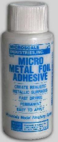 Microscale Liquids  No Scale Micro Metal Foil Adhesive 1oz Bottle MSI8