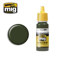 MIG Productions  MIG Acrylic Paint RAL 6003 OLIVGRUN OPT.1 MIG0001
