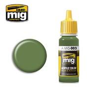 MIG Productions  MIG Acrylic Paint RAL 6011 RESEDAGRUN MIG0003