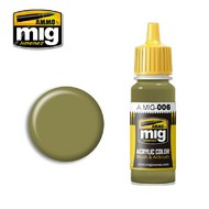 MIG Productions  MIG Acrylic Paint RAL 7008 GRAUGRUN OPT.2 MIG0006