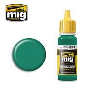 Ammo by Mig Jimenez  MIG Acrylic Paint INTERIOR TURQUOISE GREEN AMM0223