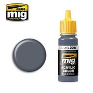 Ammo by Mig Jimenez  MIG Acrylic Paint FS 35164 INTERMEDIATE BLUE (ANA 608) AMM0228