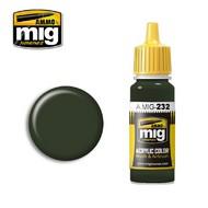 Ammo by Mig Jimenez  MIG Acrylic Paint RLM 70 SCHWARTZGRUN AMM0232