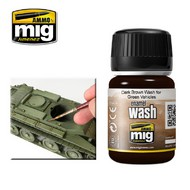MIG Productions  MIG Wash Dark Brown wash for green Vehicles MIG1005