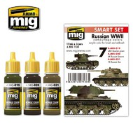 MIG Productions  MIG Acrylic Set RUSSIAN WWII COLORS MIG7136
