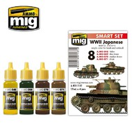 MIG Productions  MIG Acrylic Set WW II JAPANESE AFV  EARLY COLORS MIG7137