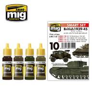 Ammo by Mig Jimenez  MIG Acrylic Set BRITISH 1939-45 EUROPEAN COLORS AMM7140