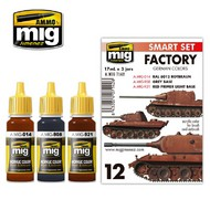 Ammo by Mig Jimenez  MIG Acrylic Set GERMAN OUT OF FACTORY COLORS AMM7142