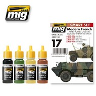 MIG Productions  MIG Acrylic Set MODERN FRENCH ARMED FORCES COLORS MIG7151