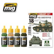 MIG Productions  MIG Acrylic Set PLA (CHINESE PEOPLEÆS LIBERATION ARMY) COLORS MIG7152