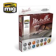MIG Productions  MIG Acrylic Set METALLIC COLORS MIG7175